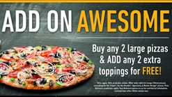 Find Take Aways || Debonairs Pizza - Add on Awesome Deal