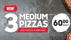 Find Take Aways || Pizza Hut - 3 Medium Pizzas Deal