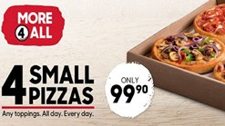Find Take Aways || Pizza Hut - 4 Small Offer