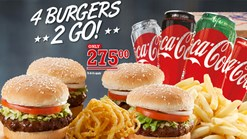 Find Take Aways || Spur - 4 Burgers 2 Go Special Deal!