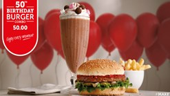 Find Take Aways || Wimpy - Birthday Burger Combo Deal