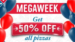 Find Take Aways || Domino's Pizza Megaweek 50% Off