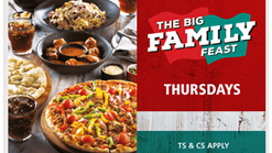 Find Take Aways || Panarottis Thursday Special - Big Family Feast