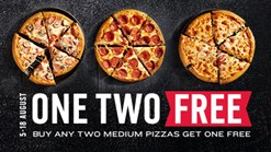 Find Take Aways || Domino's One Two Free Deal