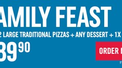 Find Take Aways || Domino's Pizza - Family Feast Promotion