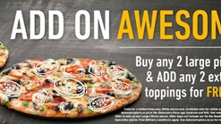 Find Take Aways || Debonairs Pizza Add On Awesome Deal