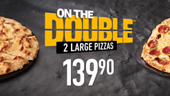 Find Take Aways || Debonairs Pizza - On The Double 2 Large Pizzas