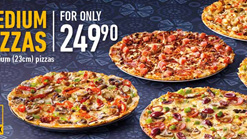 Debonairs Pizza 5 Medium Pizzas Deal