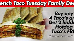 Find Take Aways || Sandwich Baron French Taco Tuesday Family Deal