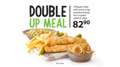 Find Take Aways || Fishaways Double Up Meal Deal