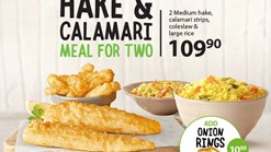 Find Take Aways || Fish Hake and Calamari Meal For Two Deal