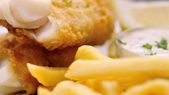 John Dory's Hake & Chips OR Chicken Schnitzel & Chips Special