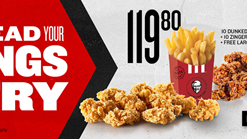 Find Take Aways || KFC Spread Your Wings And Fry Deal