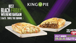 Find Take Aways || King Pie Black Friday Special
