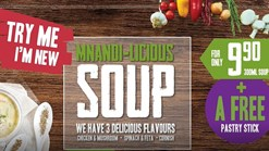 Find Take Aways || King Pie Mnandi-Licious Soup Promotion