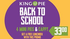 Find Take Aways || King Pie Back To School Promo