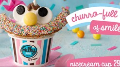 Find Take Aways || Milky Lane Churro Full Of Smiles Nicecream Cup