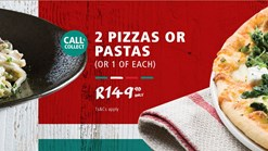 Find Take Aways | Panarottis Pizzas or Pasta Deals