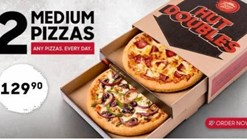 Pizza Hut 2 Medium Pizza Deal