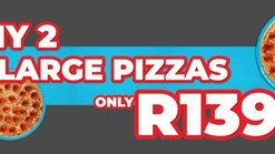 Find Take Aways || Romans Pizza Any 2 Large Pizzas Special