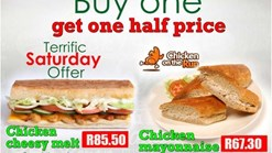 Sandwich Baron Buy 1 Get 1 Half Price