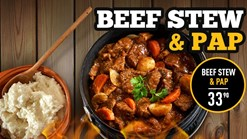 Find Take Aways || Chesa Nyama Beef Stew and Pap