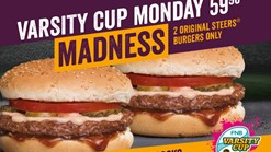 Find Takeaways || Steers - Varsity Cup Monday Madness Deal