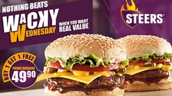 Steers Wacky Wednesday Deals