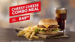 Find Take Aways || Wimpy Cheesy Cheese Combo Meal