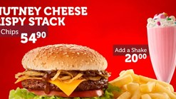 Find Takeaways || Wimpy Chutney Cheese Crispy Stack and Chips