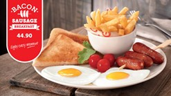 Find Take Aways || Wimpy - Bacon Sausage Breakfast Deal