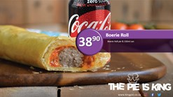 Find Take Aways || King Pie - Boerie Roll Deal