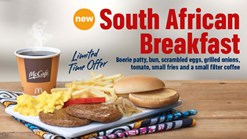 Find Take Aways || McDonalds South African Breakfast Limited Offer