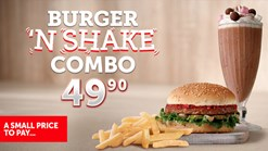 Find Take Aways || Wimpy - Burger n Shake Combo