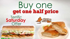 Find Take Aways || Sandwich Baron - Buy one get one Half price Special