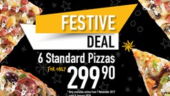 Find Take Aways || Debonairs Pizza - Festive Season Deal