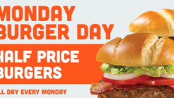 Find Takeaways || Hooters Monday Half Price Burgers