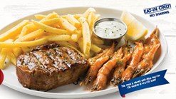 Find Take Aways || John Dory's - Steak & Prawns Special