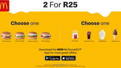 Find Take Aways || McDonalds  2 for R25