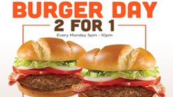 Find Take Aways || Hooters - Monday Burger Day - 2 for 1 Deal