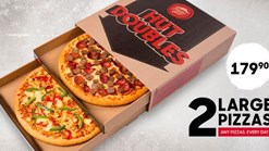 Find Takeaways || Pizza Hut - 2 Large Pizzas Special