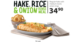 Find Take Aways || Fish Aways Hake, Rice and Onion Deal