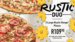 Find Take Aways || Debonairs Pizza - Rustic Duo Special Promo