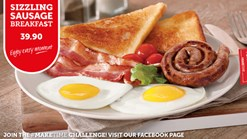 Find Take Aways || Wimpy Sizzling Sausage Breakfast Promotion