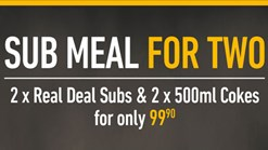 Find Take Aways || Debonairs Sub Meal for Two