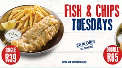 Find Take Aways | John Dory's - Fish and Chips Tuesdays Promotion