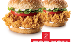Find Takeaways || KFC 2 Zinger Burgers Promotion