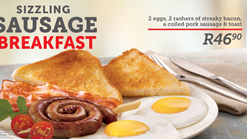 Find Takeaways || Wimpy Sizzling Sausage Breakfast